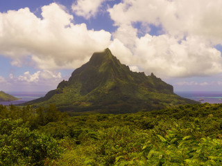 Mount Roto Nui from Belvedere, Moorea – French Polynesia