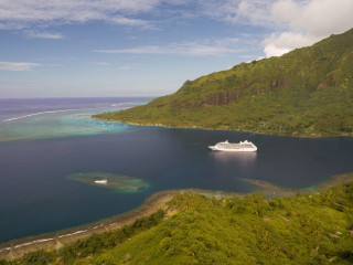 Cooks Bay from Magic Mountain, Moorea – French Polynesia